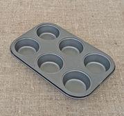 6 Muffinsformar på nonstickplåt